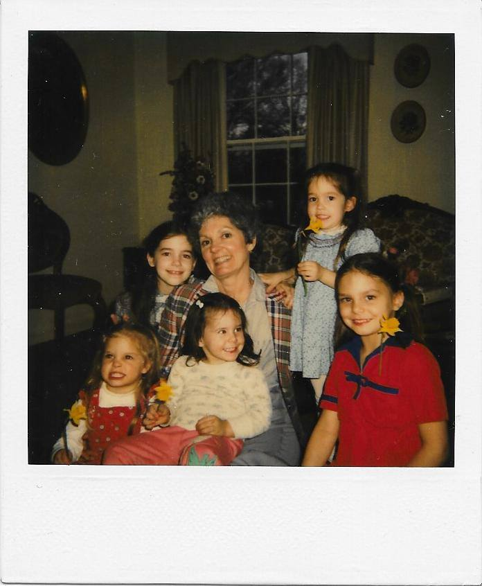 Mimi with five of her 20 grandchildren